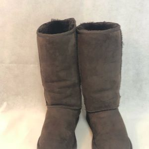 Tall brown ugg boots women's size 5
